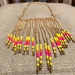 Jewelry - Gold Drop Dangle Statement Necklace